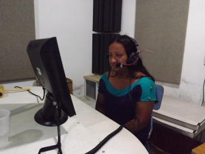 Fluvia recording some of the shorter women's voices