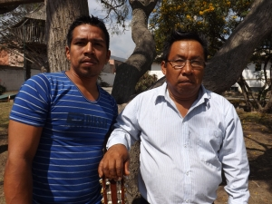 Wilson and Leoncio, the church leaders in Dureno