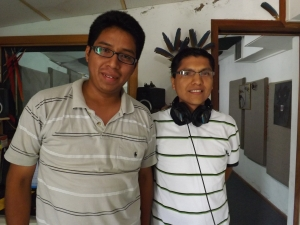 Technicians from Peru Luis and Adolfo