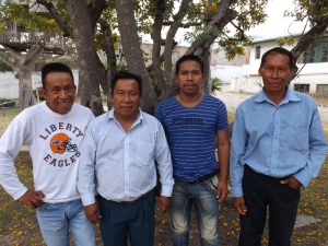 Cofan Church leaders in Sinangue and Dureno (L-R, Ramon, Leoncio, Wilson, Bautista)