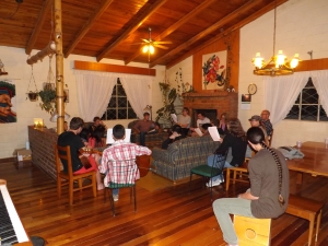 Singing and share time at Teen Night