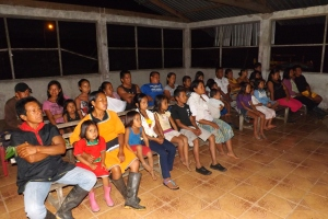 "Cofan ""Jesus"" movie showing in Sinangue"