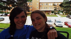 Julia and Sarah at Emmaus Bible College Aug. 2014