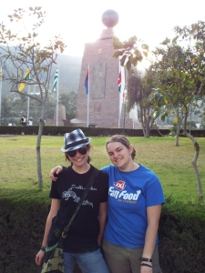 Julia and Sarah at Mitad del Mundo Dec. 2014