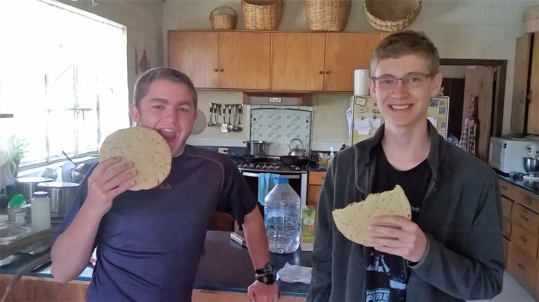Aaron and Andy 1st day of 11th grade